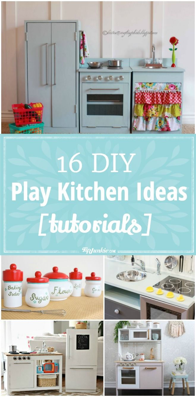 16 Diy Play Kitchen Ideas Tutorials Diy Play Kitchen Diy Kids