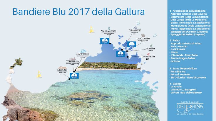 Bandiere Blu 2017: le spiagge da sogno della Sardegna #beaches #blue #sardinia #sardegna #sardinien #bestdestination #placetosee #archipelago #infographic #infografica
