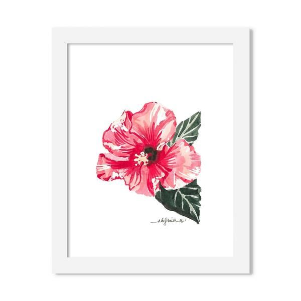 hibiscus - 8 x 10 print