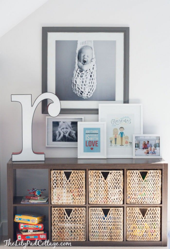 Colorful Playroom Storage   The Lilypad Cottage