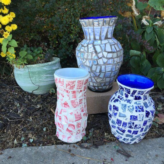 Broken Glass Vase: 17 Best Ideas About Mosaic Vase On Pinterest