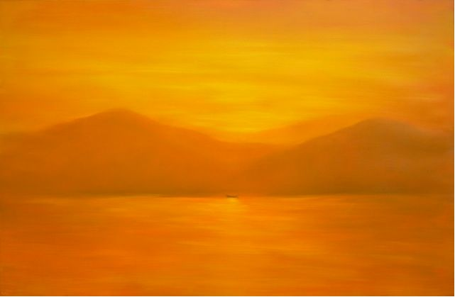 Sunrise At Halong Bay, 130cm x 200cm, For more information please contact REDSEA Gallery on (07) 3162 2230 © Truc
