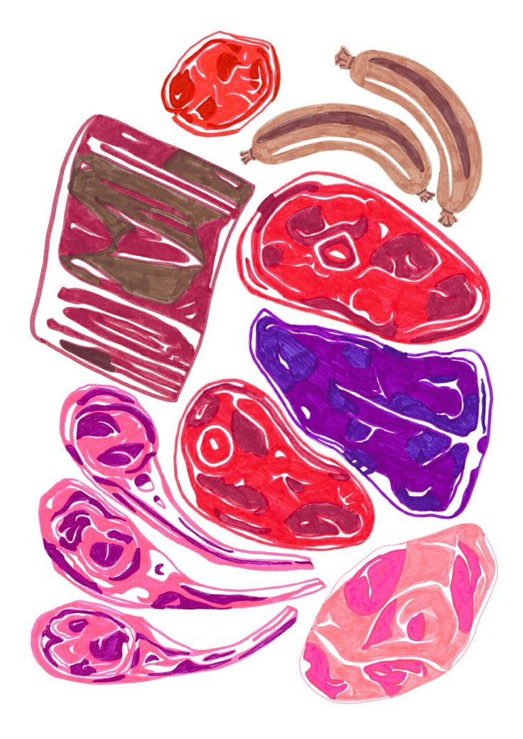 Untitled by Isabel Leal Bergstrand. Available at: http://www.arrivals.se/product/untitled-by-isabel-leal-bergstrand #art #affordable #affordableart #arrivals #meat #food #sausage #pink #red #purple #print