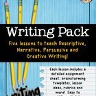 WRITING - PERSUASIVE, NARRATIVE, EXPOSITORY & DESCRIPTIVE WRITING ACTIVITIES & GRAPHIC ORGANIZERS - An easy-to-use set of activities, organ...