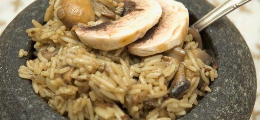 Delhaize - Kruidige rijst met champignons
