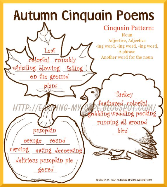 Autumn+Cinquain+Poems+completed Free Fall Unit Study Ideas– For Older Kids Too