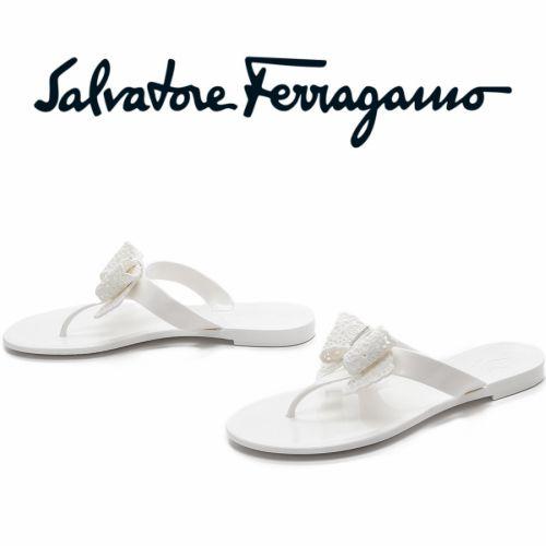 Salvatore Ferragamo サルヴァトーレフェラガモ バリジェリー サンダル 【白・ホワイト】ラバー