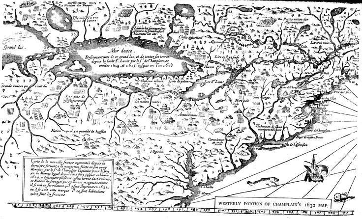 Samuel de Champlain - Carte de la nouvelle France [western portion] - 1632
