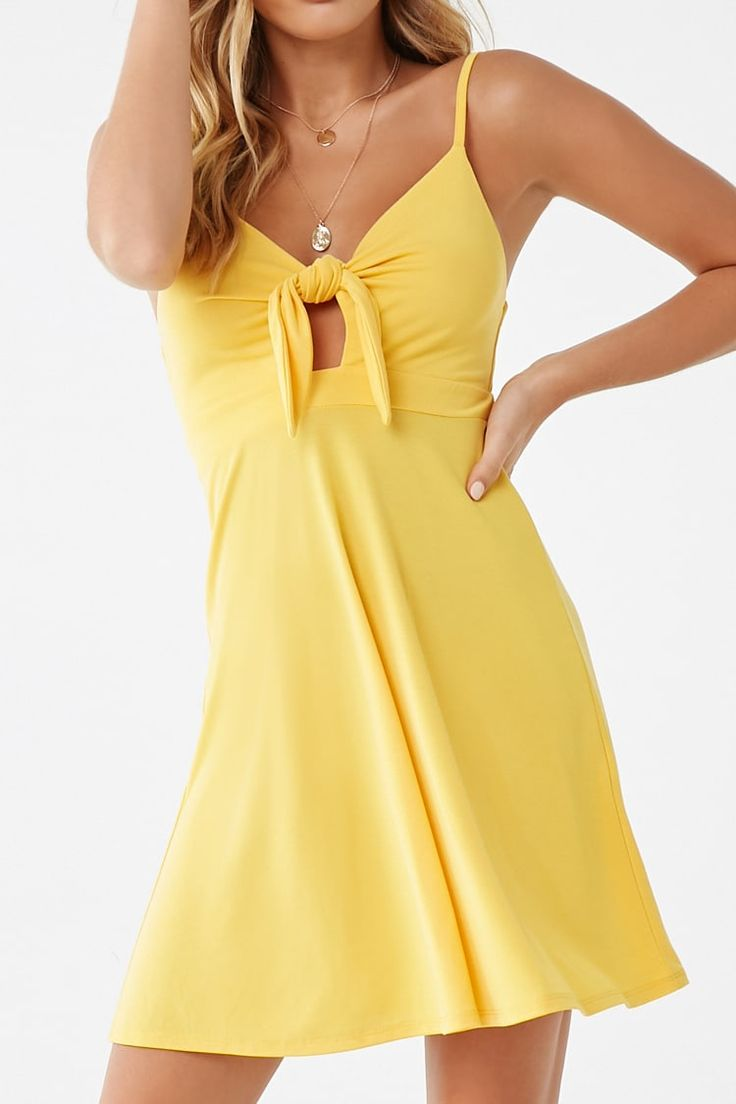 Tie-Front Cami Dress – Fashion