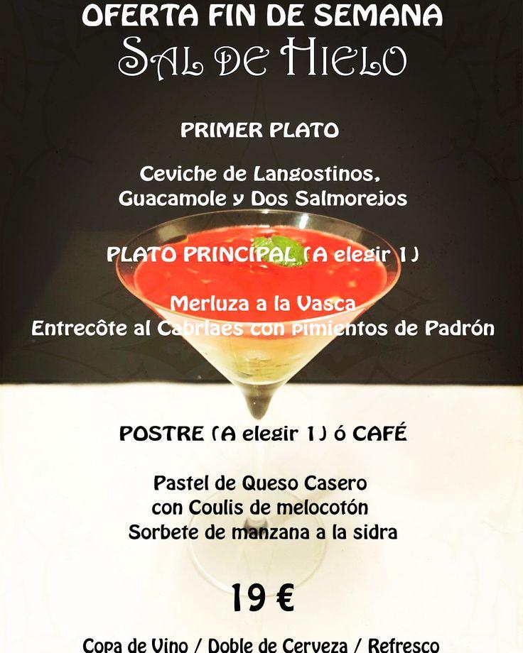 #OFERTA #ESPECIAL 22 y 23 JULIO #HOY y Mañana en #SaldeHielo #MENÚ #ESPECIAL  Por SÓLO... ‼️1️⃣9️⃣€‼️ http://saldehielo.es/oferta-menu-fin-de-semana/ #Madrid #restaurante #restaurantesmadrid #food #foodies #madridfoodies #foodiesmadrid #instafood #foodlovers #foodgasm #foodphoto #foodgram #gastro #yummy #delicious #gourmet #delicatessen