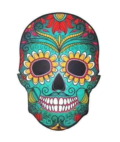 adesivo caveira mexicana skull 60x45 cm