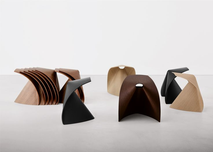 Low Stackable Multi Layer Wood Stool AP By Lapalma Design Shin Azumi