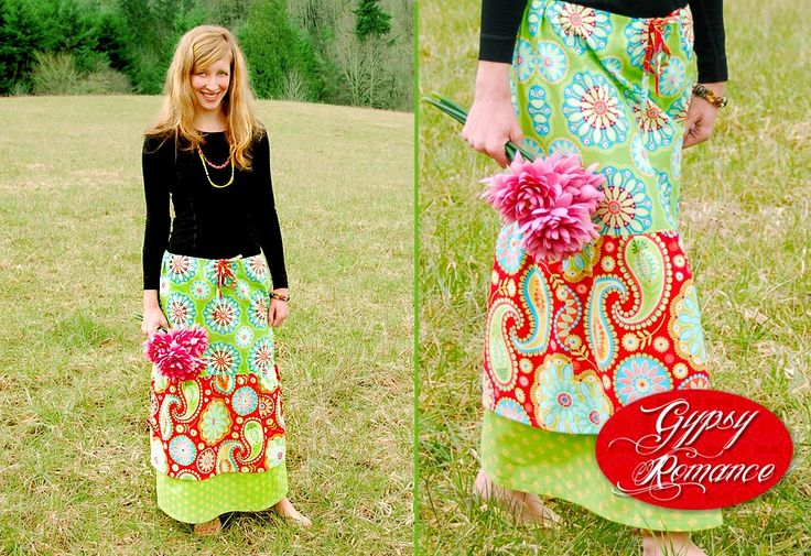 Gypsy Skirt-this would be fun for the girls to make for Spring time