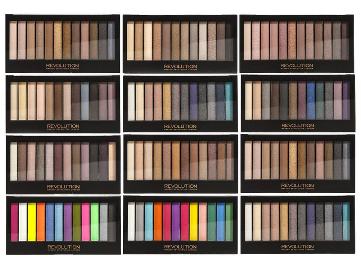 MAKEUP REVOLUTION Eyeshadow Palettes...LOVE these palettes! Such amazing quality for a drugstore price!