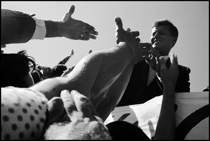 John F. Kennedy during the nationwide whistle-stop campaign tour that took him to 25 towns in 5 days. USA. September, 1960. © Cornell Capa © International Center of Photography / Magnum Photos