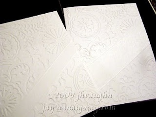 Awesome tutorial for making a diagonal blank spot on an embossed card.