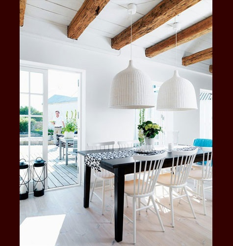 78 best images about wood beam ceilings on pinterest for White ceiling with wood beams