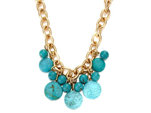 Turquoise Necklace by Deborah Grivas from Kelly Rutherford on OpenSkyBling, Turquoise Necklaces, Beads Crystals, Beads Jewellery, Gold Necklaces, Turquoise Jewelry, Accessories, Accesories, Turquoise Gold