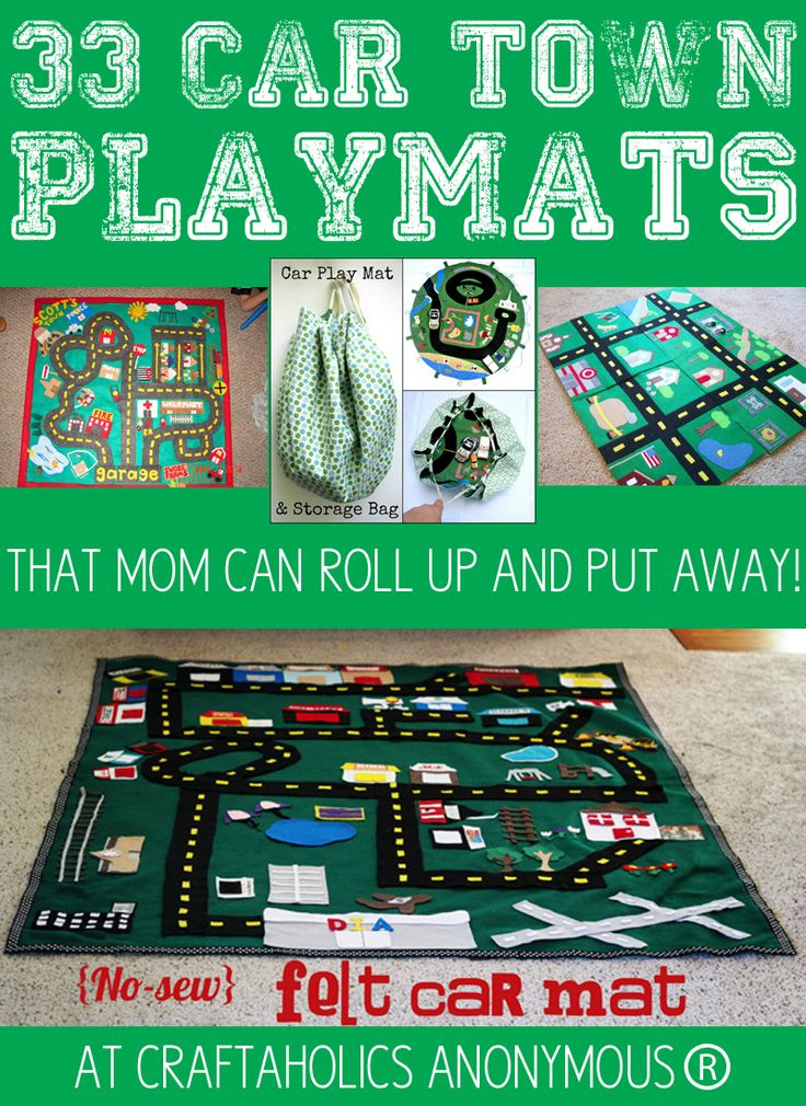 33 play car mat ideas that you can fold up and put away!