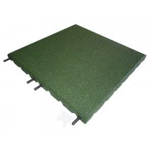 Castleflex Rubber Promenade Tiles 500mmx500mm x 30mm Forest Green