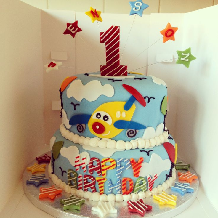 Little Boys First Airplane Cake