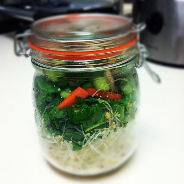Quick  easy lunch – 'pot noodles' Noodles to go...in a mason jar...just add boiling water!...  Brilliant!!