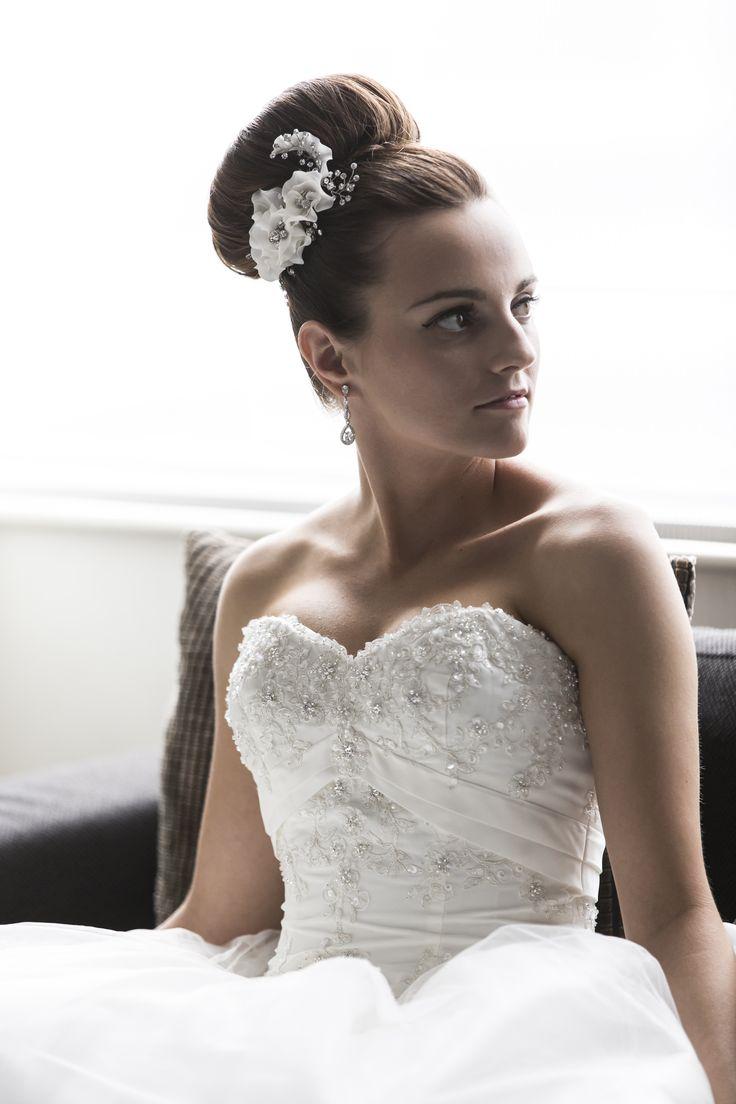 Stunning classic ballerina high bun by Total Brides hair & makeup