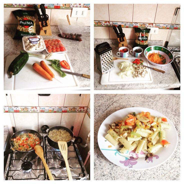 Pastas con verduras mix!