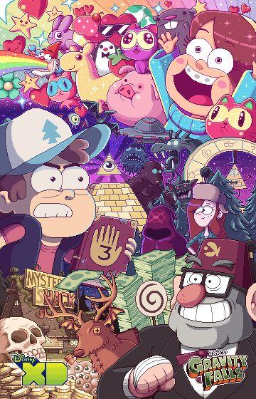 2014 Comic Con Gravity Falls poster | Paul Robertson