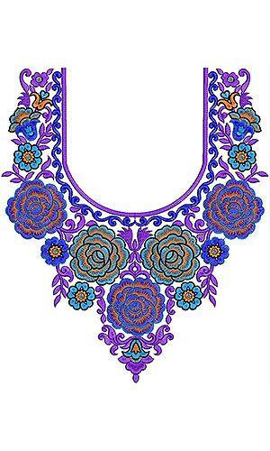 Embroidery Yoke Dresses Neck Design
