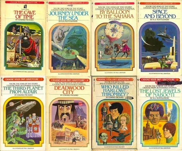 CHOOSE YOUR OWN ADVENTURE YESSSS i used to love these