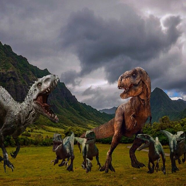 Jurassic World IRex vs TRex vs Raptor Squad Jurassic