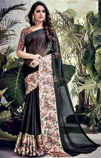 Ravishing Black Printed Georgette Simple Saree Blouse Design   #CasualSarees #DesignersAndYou #DesignerCasualSarees #Sarees #DesignerSarees #DailyWearSarees #SareesOnline #CheapSarees #CheapestSarees #LowPriceSarees #BestSarees #BestPriceSarees #DesignerSari #LowPriceSari #CheapSari  #SilkSari #SilkSarees #GeorgetteSarees #GeorgetteSari #GeorgetteSaris