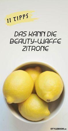 itronen sind ein echtes Allround-Talent! Sie sind nicht nur Power-Früchte, die uns bei Erkältungen helfen, sondern sie sind auch wahre Beauty-Bomben! So helfen die gelben Früchten bei Akne, stärken die Nägel und oder hellen unsere Zähne auf. STYLEBOOK.de hat elf Tipps, wie wir uns mit Zitronen schön pflegen.