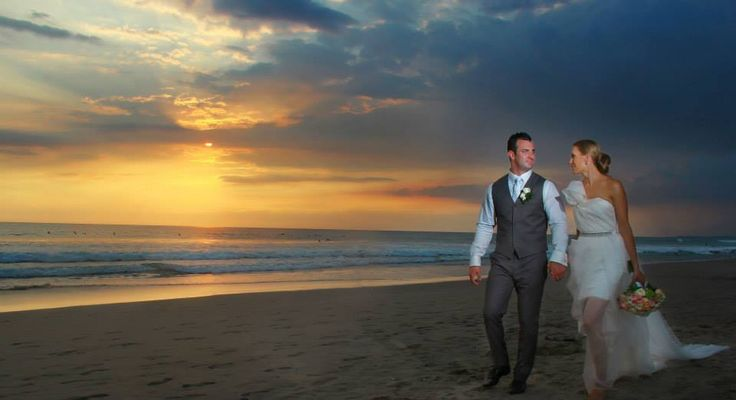 Accompanied by the gentle ocean breeze and a breathtaking sunset view, an everlasting smile on our bride and groom's faces is all that we strive for. Discover more from our experts at wedding@nilamanihotels.com.   #CamakilaWeddings #TheCamakilaLegianBali #camakilabali #camakila #legian #bali