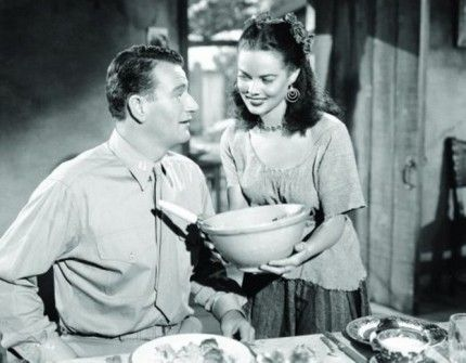 Dona Drake with John Wayne in Without Reservations (1946)