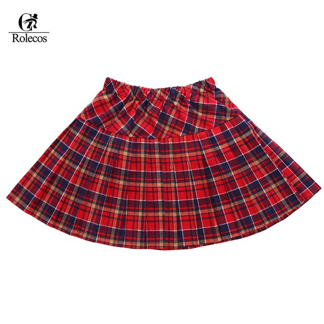 Check current price Hot Sale Plus Size 4 Color Red Pleated School Uniform Plaid Skirt for Women just only $12.65 with free shipping worldwide  #womanskirts Plese click on picture to see our special price for you