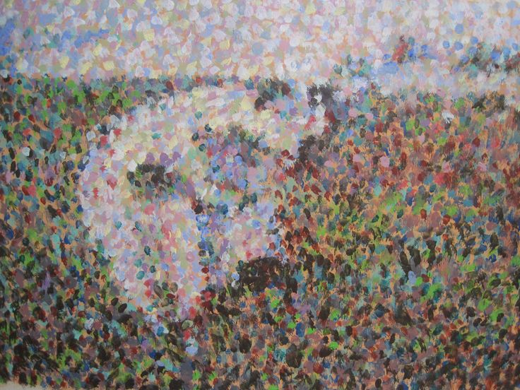 The pointillist cows!