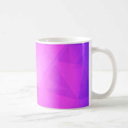 Abstract glow light purple triangle background coffee mug - light gifts template style unique special diy