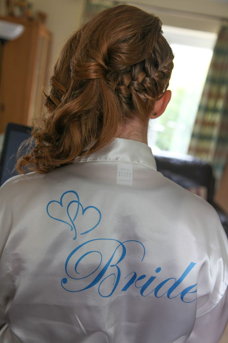 Back of my hair - and wearing my special dressing gown for the morning  16/08/2014