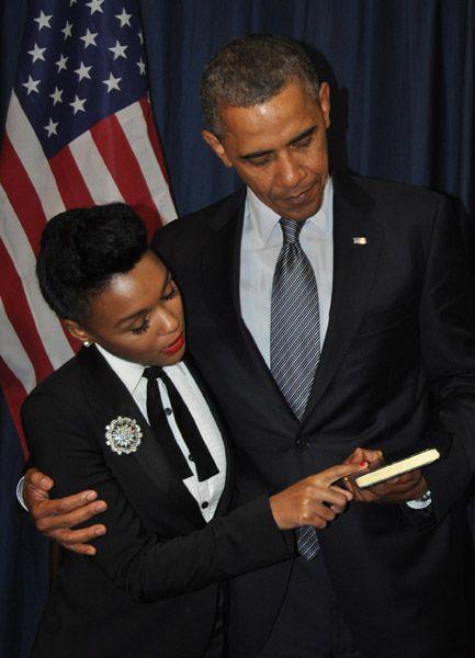 Janelle Monáe e Barack Obama.