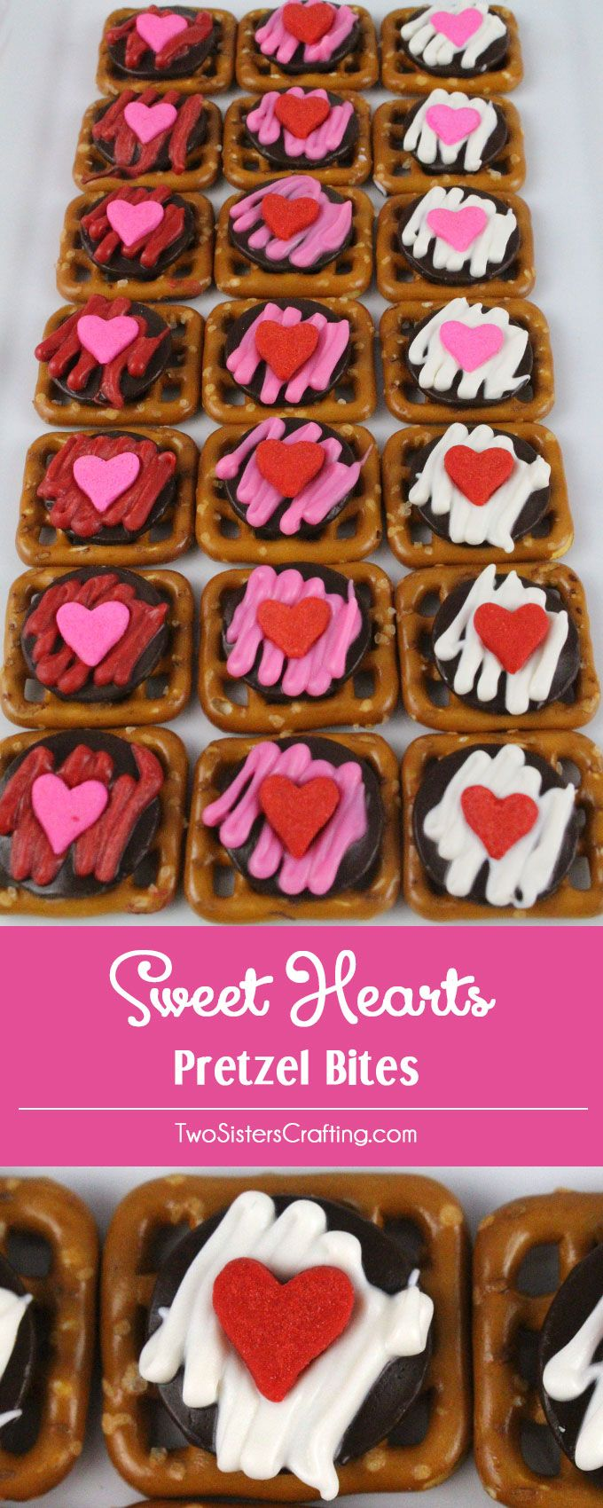 Our easy to make Sweet Heart Pretzel Bites are delicious bites of sweet and salty goodness and a fun and unique Valentines Day Treat. Follow us for more great Valentines Day Food Ideas.
