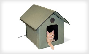 Groupon - $62 for a K Outdoor Heated Cat House ($124.99 List Price ...