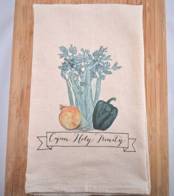 Cajun Holy Trinity Flour Sack Tea Towel