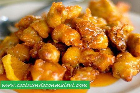 Recetas de cocina - Pechugas de pollo a la naranja