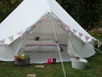 "Ooooh such a lovely tent... ""Glamping"" Canvas Bell Tent."