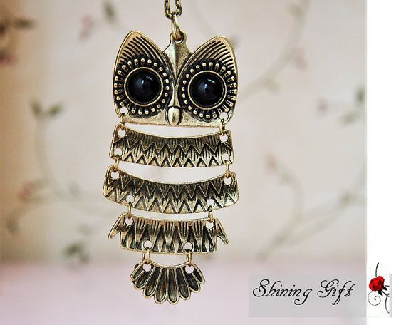 I like this  Classic fashion Owl necklace by way of Etsy. Ridiculously CUTE and AFFORDABLE jewlery an...