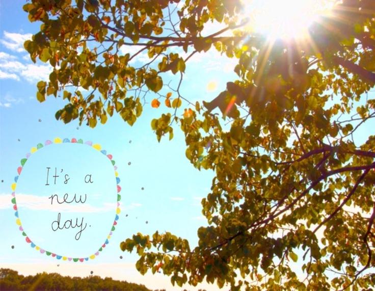 Um novo amanhecer, é um novo dia... Bom dia Segunda-feira! ♥