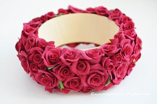 Polymer Clay Floral Bracelet
