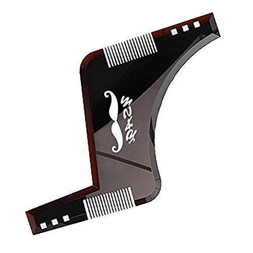 Beard Shaping Tool Template, YSAGi Beard Styling Comb for Line Up and Edging, Men's Facial Hair Style Stencil (Brown) #Beard #Shaping #Tool #Template, #YSAGi #Styling #Comb #Line #Edging, #Men's #Facial #Hair #Style #Stencil #(Brown)